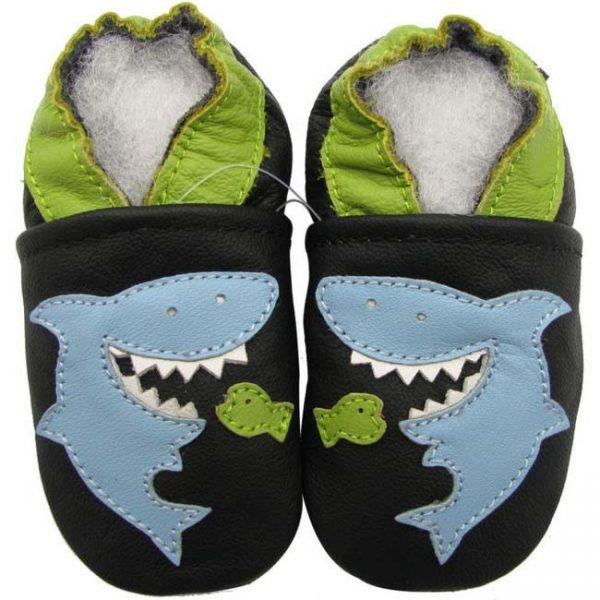 נעלי טרום הליכה כריש שחור