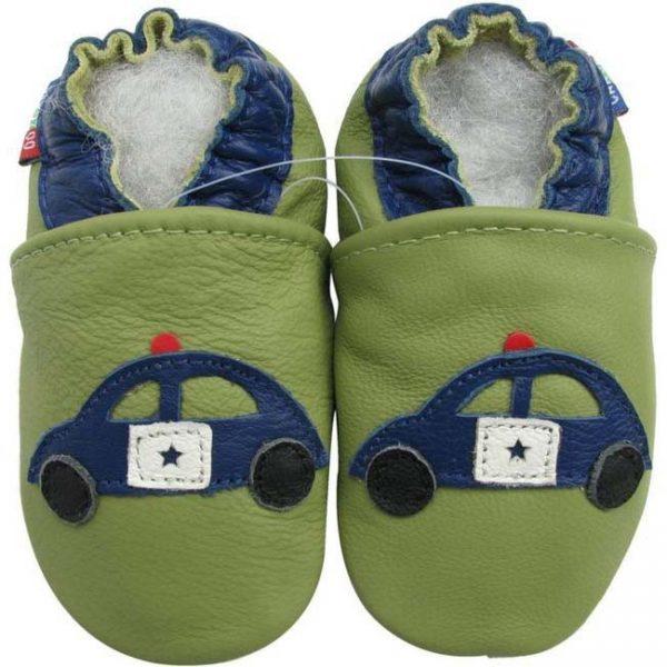 נעלי טרום הליכה ניידת משטרה ירוק