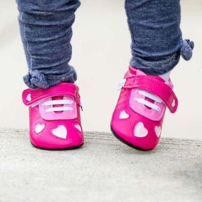 נעלי צעד ראשון ורודות